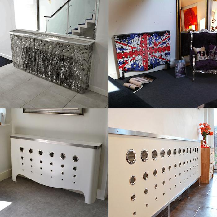 vier Ideen für Heizungsverkleidung für jede Zimmer - Flur, Wohnzimmer, Schlafzimmer und die Küche