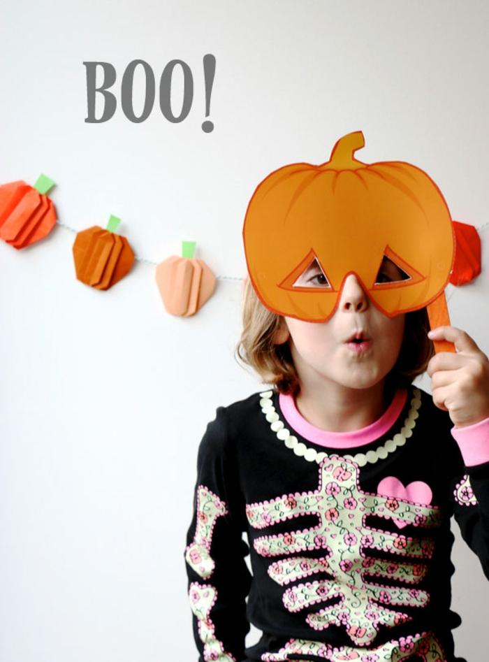 DIY Ideen für Kinder, Kürbis-Maske selber machen, Schritt für Schritt Anleitungen und viel Inspiration