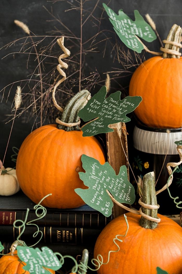 den Garten herbstlich dekorieren- Ideen und Inspiration, Kürbisse als Dekoelement, Herbstdeko für draußen