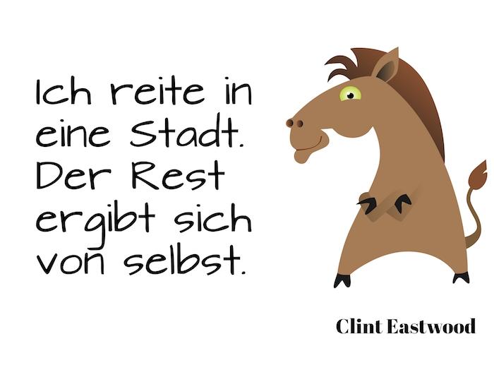 ein süßes pferd und ein vorschlag für einen coolen spruch von clint eastwood