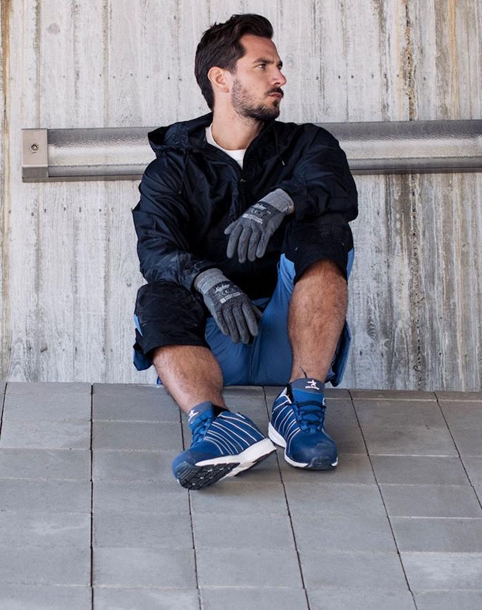 workwear model inspirierend sportschuhe arbeitschuhe handschuhe mann hose