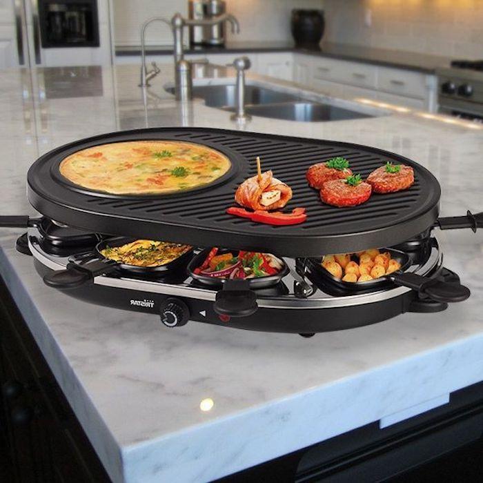 ideen für raclette schweizerische speise tolle idee omlett würstchen paprika fleisch