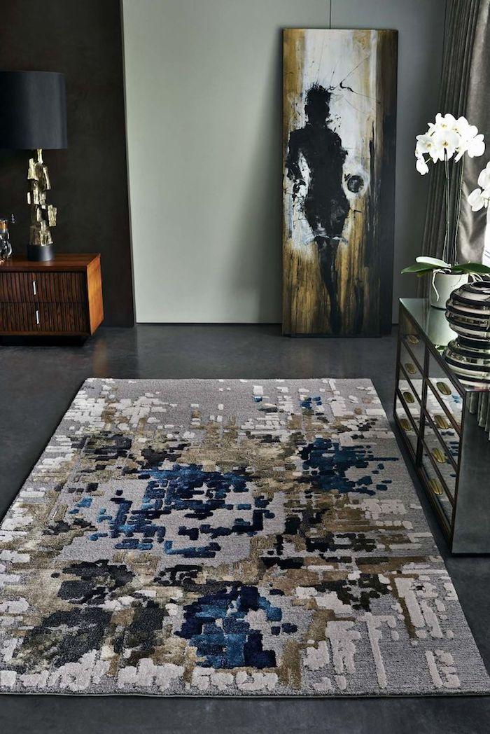 kurzflor teppich beige idee moderne dekoration art kunst ideen bild deko flur