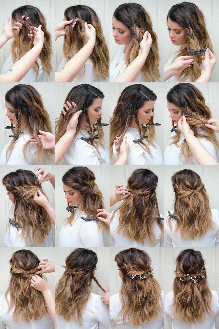 eine Anleitung, wie Sie ein Frisur mit Haarband mithilfe einer Freundin zu schaffen