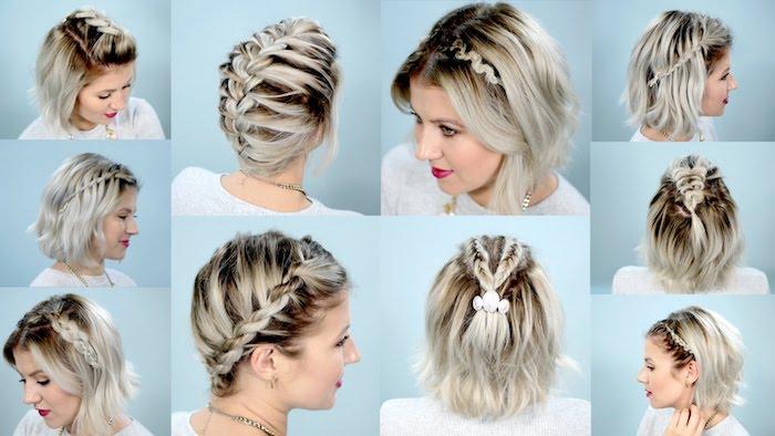 eine Menge Ideen für Zopf Frisuren auf Ombre Blond Haar Frisuren mit Haarband