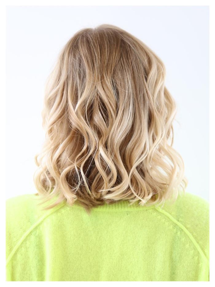 ombre färben natürlicher look kuss von der sonne hellbraune haare mit blonden spitzen