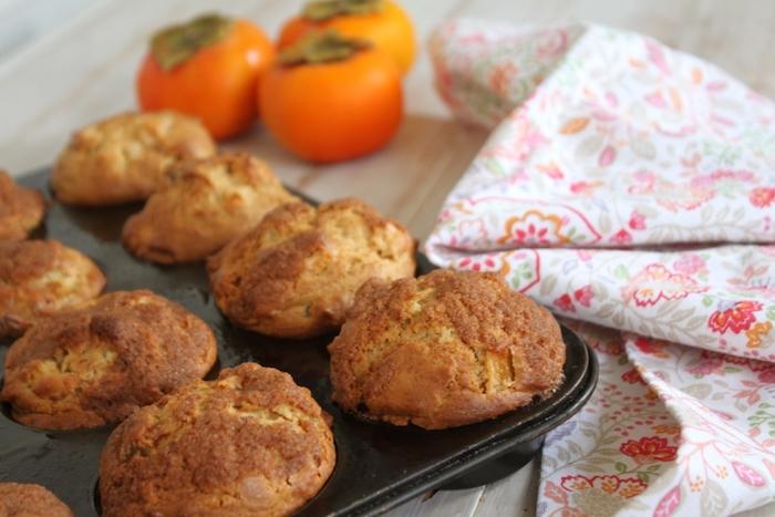 kaki gesund, muffins mit persimonen und butter selber machen