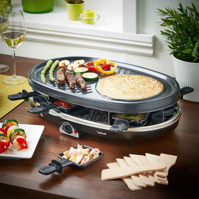 raclette geschirr cheap severin rg raclette with raclette. Black Bedroom Furniture Sets. Home Design Ideas