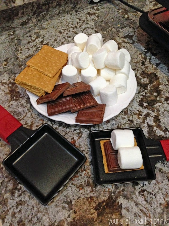 ideen für raclette marschmallow schokolade kekse süse variante für raclette idee