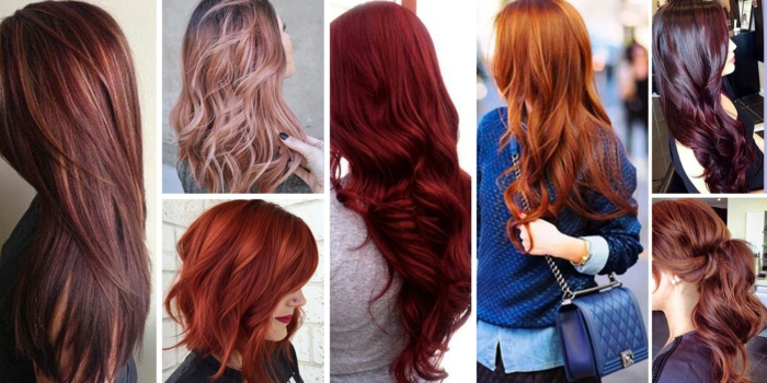 verschiedene Rottöne, die perfekte Farbe für Ihren Teint auswählen, Kuperrot, Intensiv Rot, Dunkle Kirsche, Mahagonirot, Braun Rot