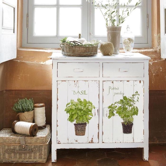 shabby chic küche schrank in der küche hölzerne möbel weiß gefärbt retro look
