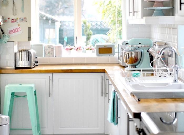 shabby chic deko für die küche moderne wohnung pastellfarben stuhl becken kaffee