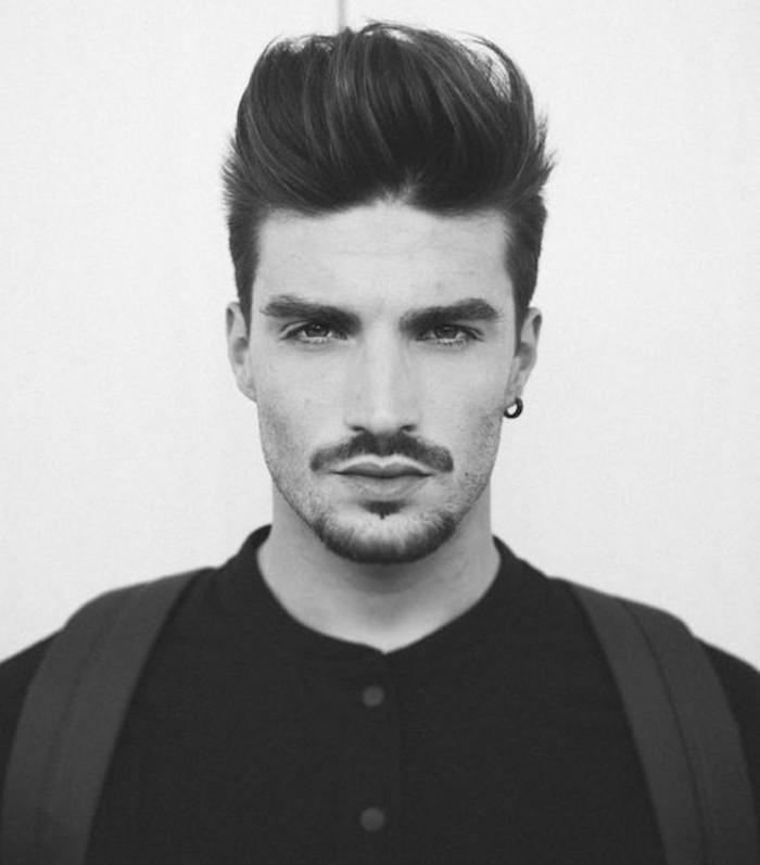 sidecut frisuren schöne haare von männern idee ohrringe schnurrbart gestaltung