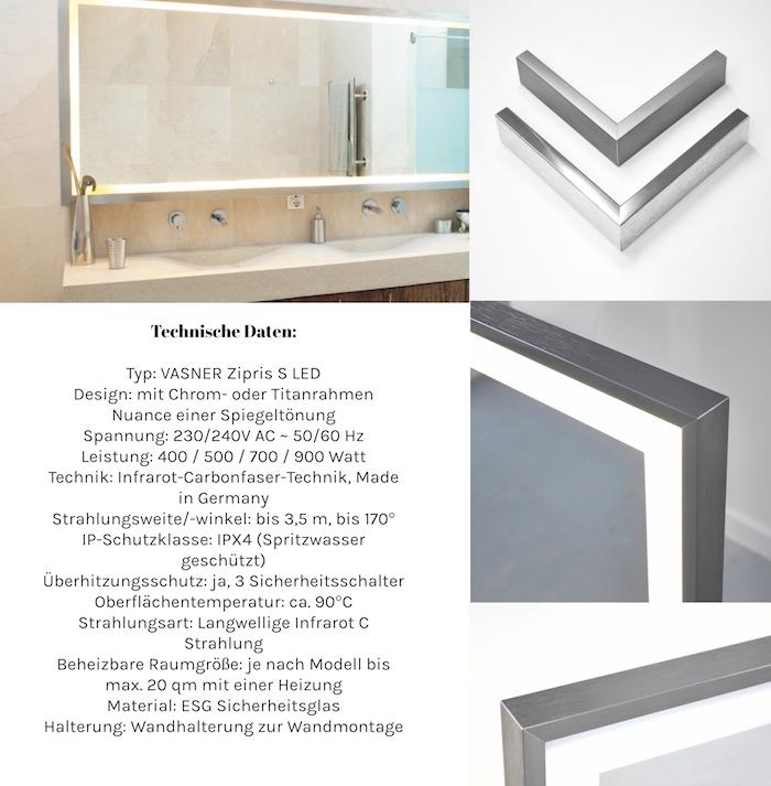 VASNER - Infrared heating mirror for your bathroom