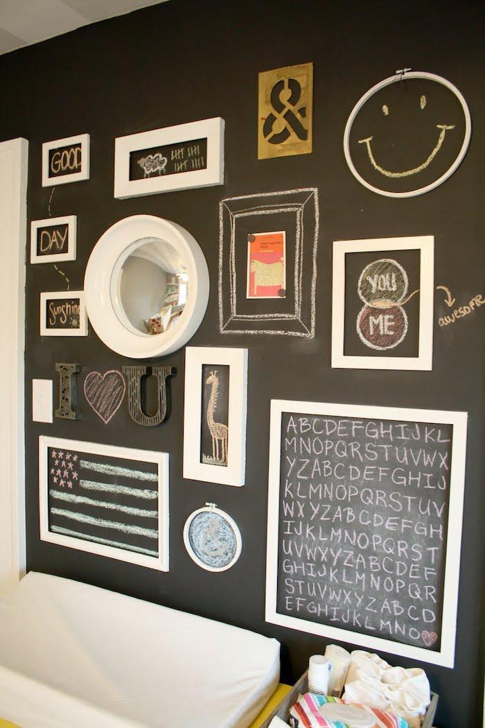 lassen Sie Ihrer Kreativität freien Lauf mit Tafelfolie an der Wand