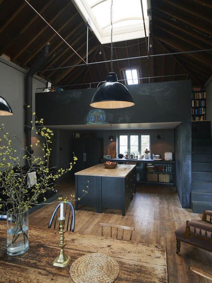 ein Design von dem Haus mit Tafelfolie von einer Dachwohnung in Landhaus Stil