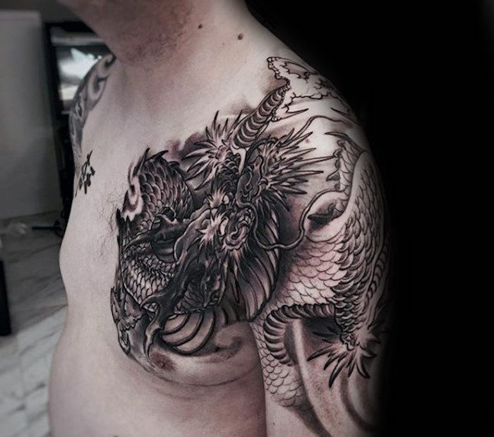 drachen tattoo vorlagen oberarm dragon tattoo oberarm. Black Bedroom Furniture Sets. Home Design Ideas