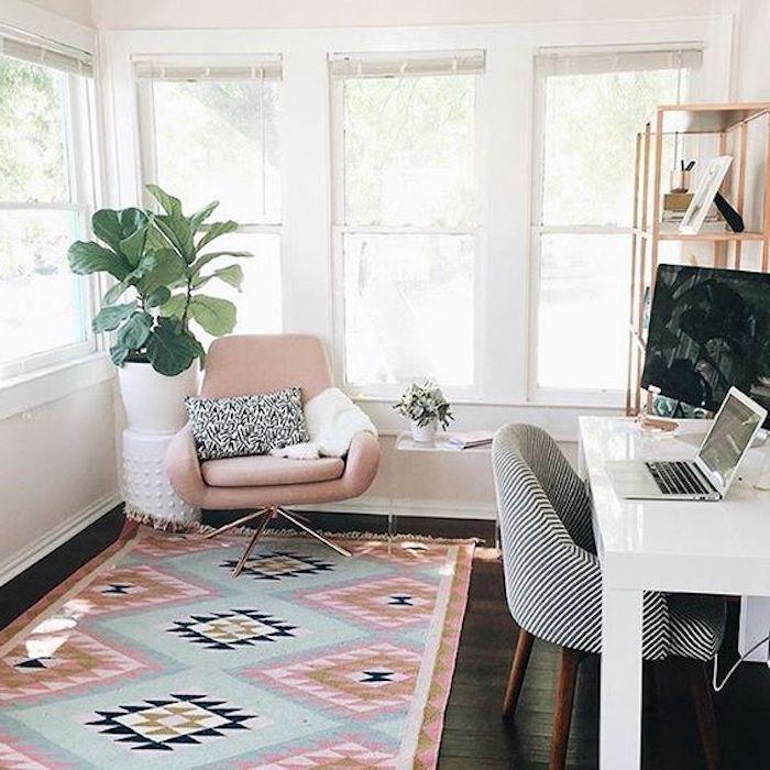 dezentes design im zimmer kabinett pastellfarben skandinavisches zimmer rosa weiß
