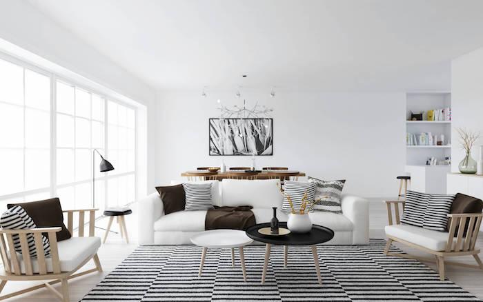 teppich traum idee aus der skandinavischen halbinsel schwarz weißer teppich