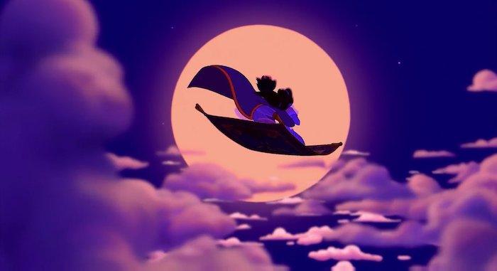 der fliegende traumteppich von aladdin und seine geliebte jasmin tschüss sagen