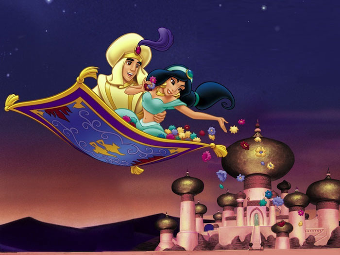traumteppich schöne ideen mir den disney helden aladdin und jasmin fliegender teppich