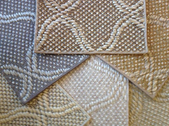 teppich türkis beige grau gelb weiß farben barberteppich mit dezenten motiven