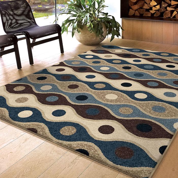 teppich türkis grau ideen dezentes und buntes teppich design dekorationen pflanze