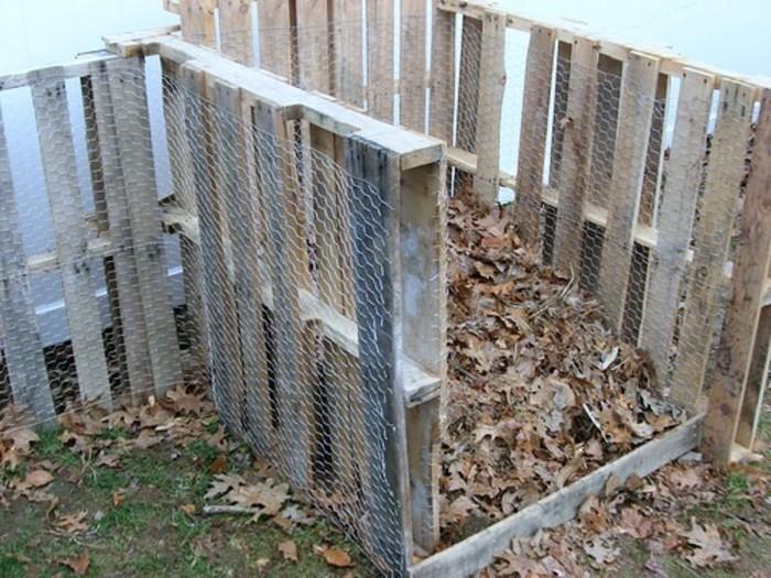 hier finden sie einen tollen komposter aus alten europaletten, der ihnen sehr gut gefallen könnte