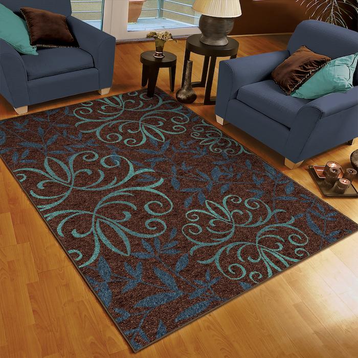 teppich grau türkis idee braun türkis und blau kombinieren einrichtung unde deko