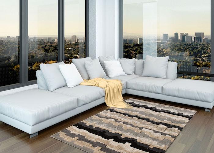 coole teppiche dessin das zur zimmereinrichtung passe graues sofa tolle aussicht