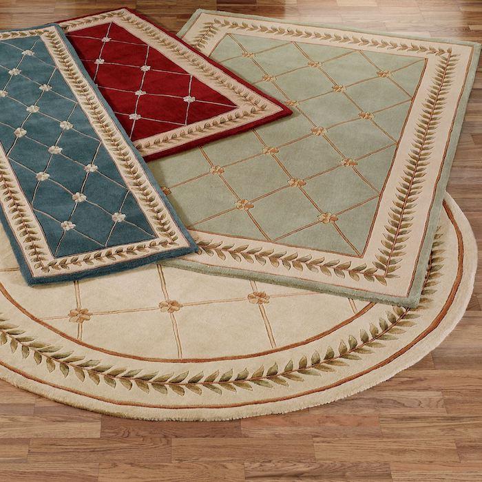 teppich türkis grau beige grün blau rot alle farben mit goldenen faden dekorieren
