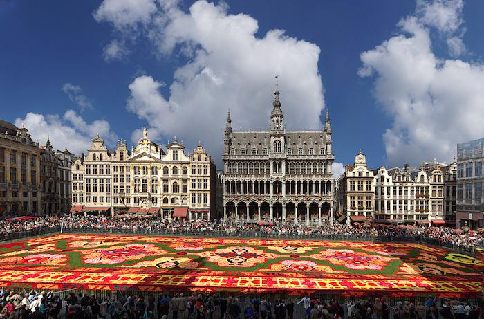 teppich traum aus blumen festival der kulturen farben und der blumen in belgien