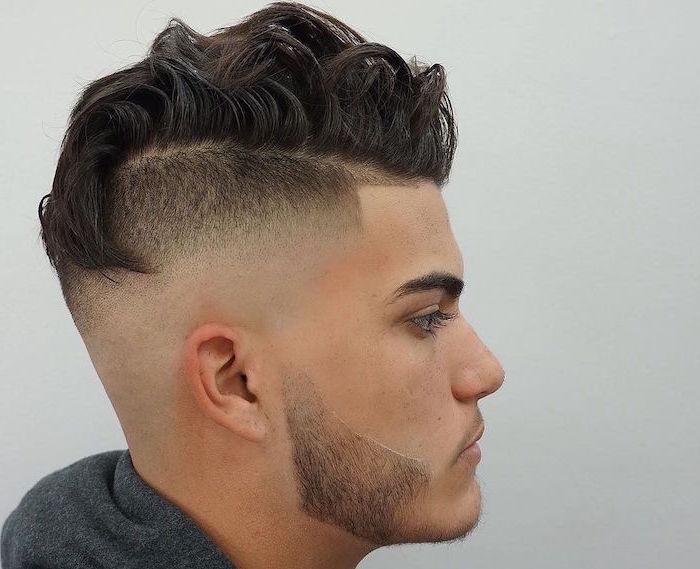 sidecut haarstil ideen zum gestalten männer trendy looks bart haare model frisör