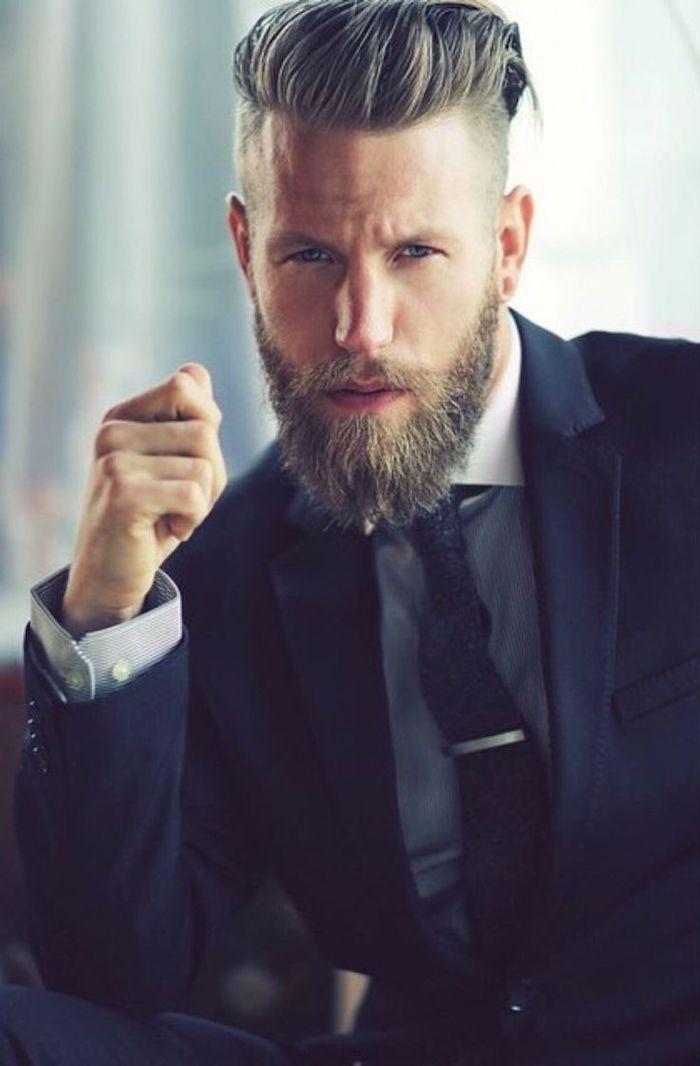 männer undercut ideen zum entlehnen kaufmann businessman mit anzug elegant
