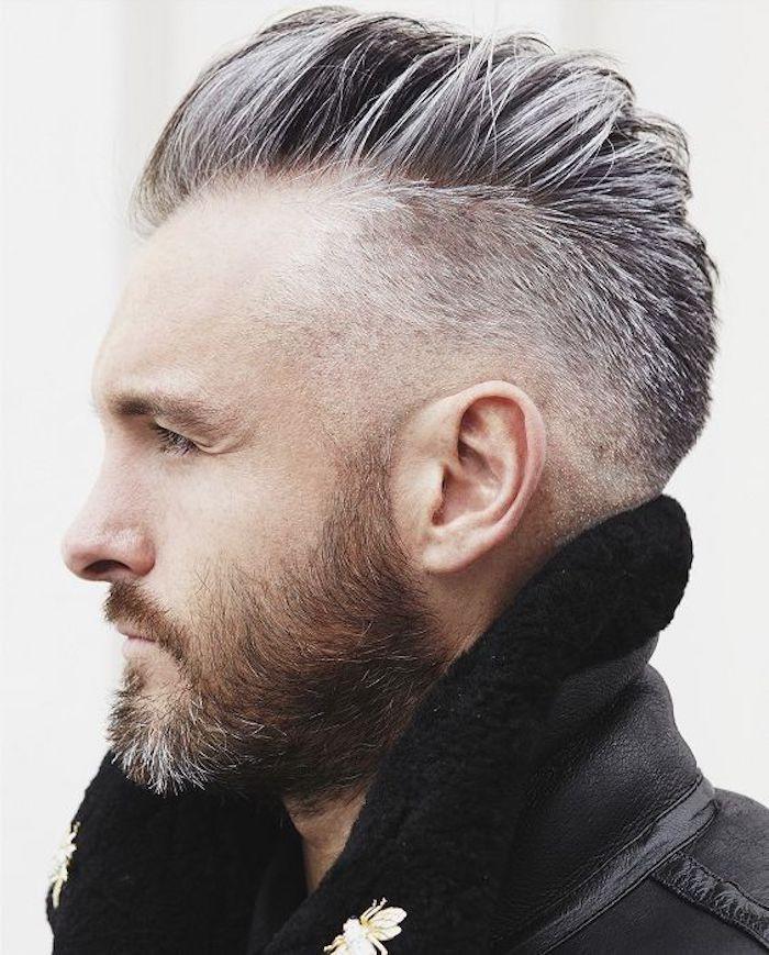 mens undercut trendy in jedem alter graue haare schön gestalten moderne frisur mann
