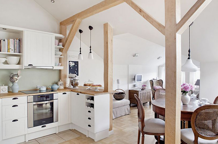 shabby chic deko für kleine küche küchendesign ideen wohnzimmer und küche