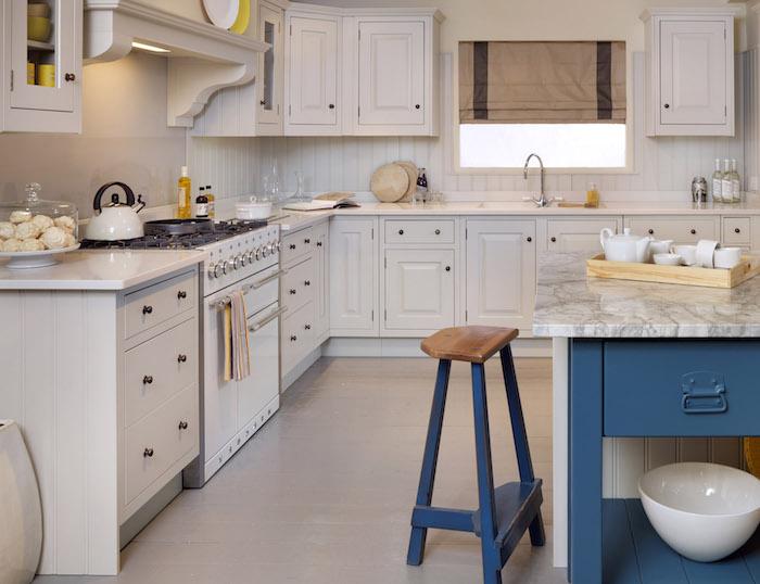 möbel und einrichtung in stil shabby deko ideen weiße ausstattung der küche blaue deko