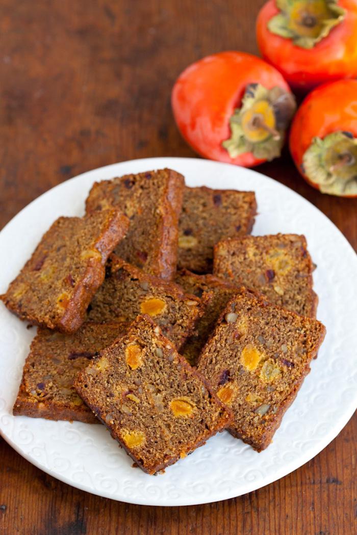 kuchen mit persimone und kakao backen, nachtisch rezepte
