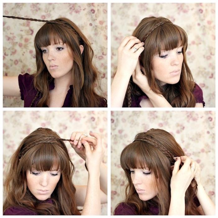 wie aus zwei Zöpfen eine schnelle und einfache Frisur selber zu schaffen Wiesn Frisuren