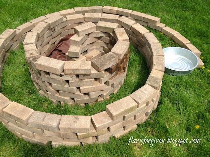 jetzt zeigen wir ihnen eine idee zum thema kräuterspirale mit kleinen weißen steinen