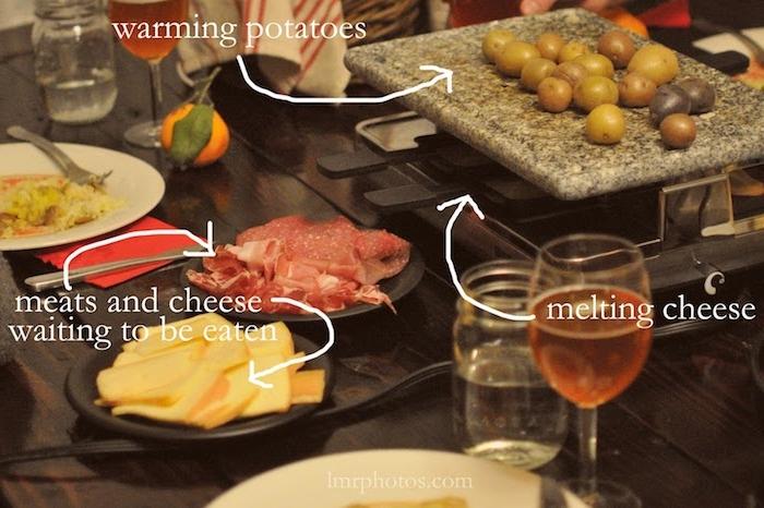 raclette zutaten ideen käse fleisch kartoffeln wein rosewein schweizerischer käse