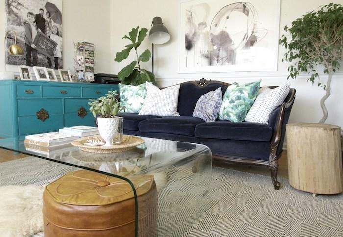 bodenkissen passt in jedem zuhause schöne idee brauner leder sitzkissen sofa schrank