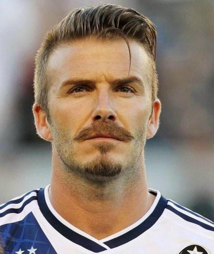 David Beckham mit Musketierbart, Fußballspieler, Fußballmeisterschaft