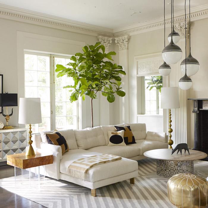 bodensitzkissen in dem modernen wohnzimmer deko möbel zu hause in weiß pflanze