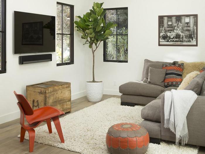 sitzkissenbezüge idee tisch teppich stuhl braunersitzkissen orange deko ideen pflanze fenster graues bild