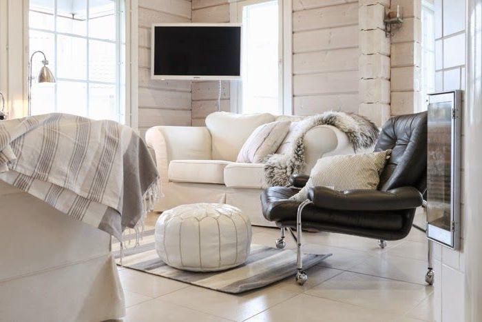 sitz kissen designer einrichtung idee für das moderne zuhause wohnzimmer fernseher ledersessel schwarz weiße möbel leder