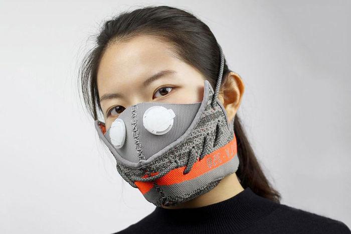 graue Halloween Masken selbst nähen Held aus einem Computerspiel darstellen