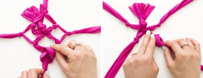 armbänder knüpfen anleitung diy projekte zum entlehnen selber machen rosa zyklamene farbe