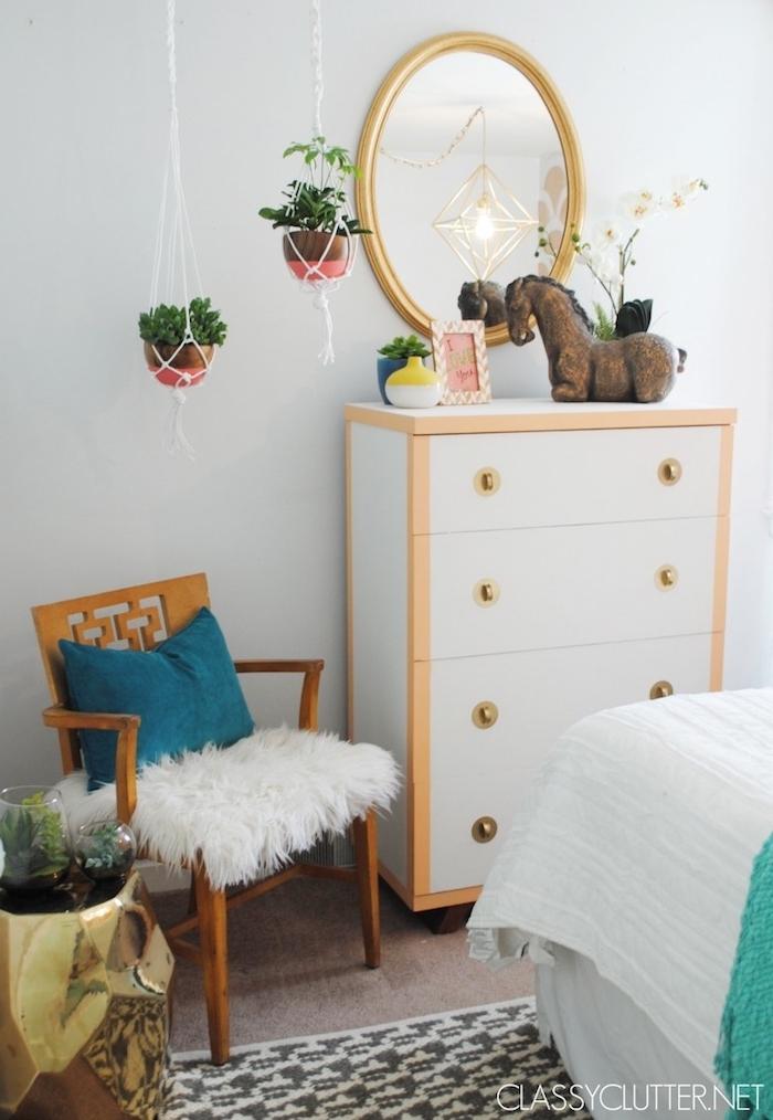 hängeampel selber machen schöne deko in dem schlafzimmer oder im wohnzimmer ideen