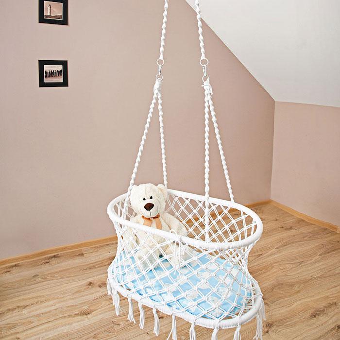 hängeampel selber machen babybett selber machen muster ideen zum gestalten schön